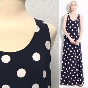 Ann Taylor Polka Dot Maxi Dress